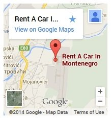 Rent A Car In Montenegro Google Map